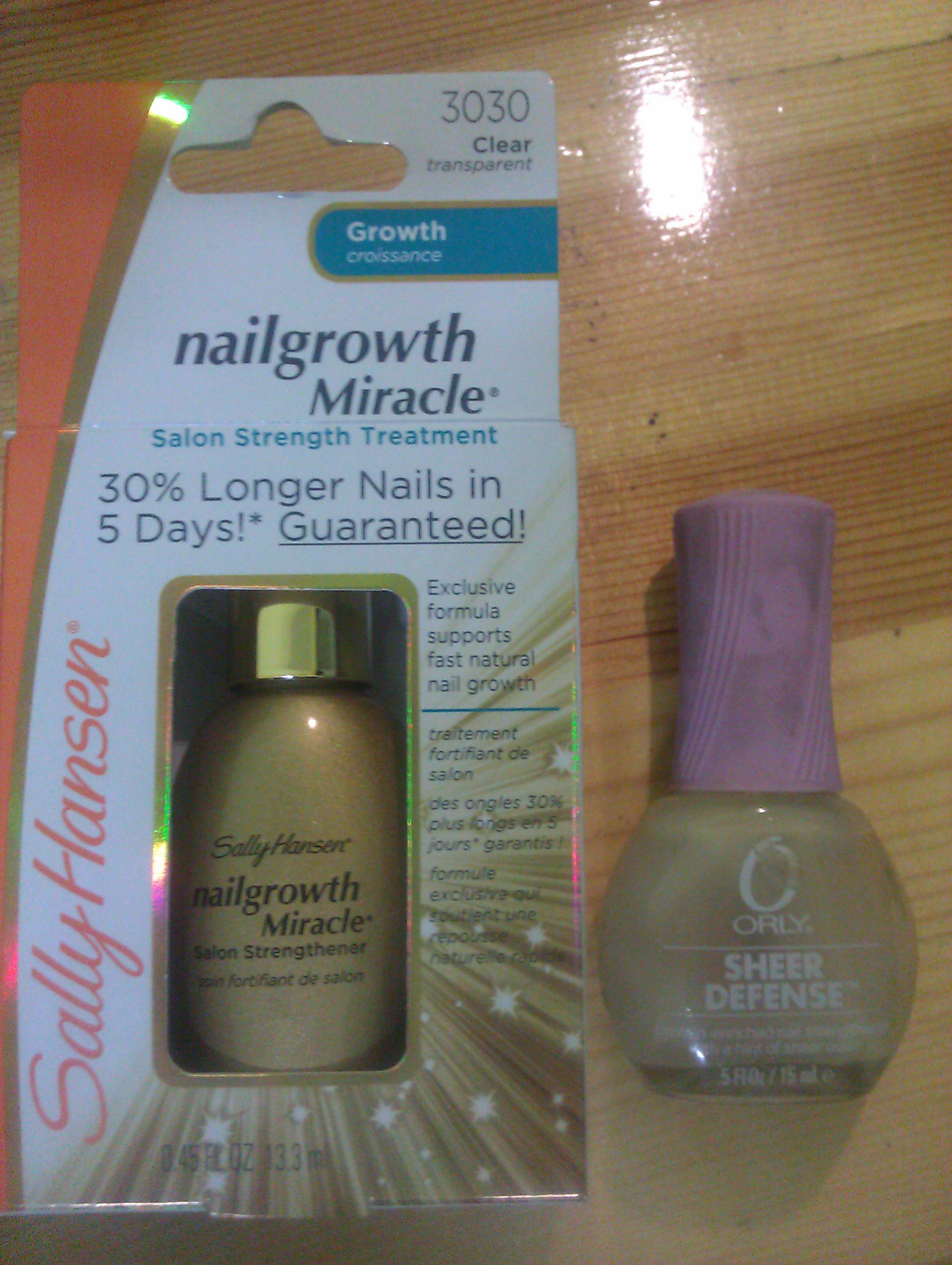 Sally Hansen and Orly bottles
