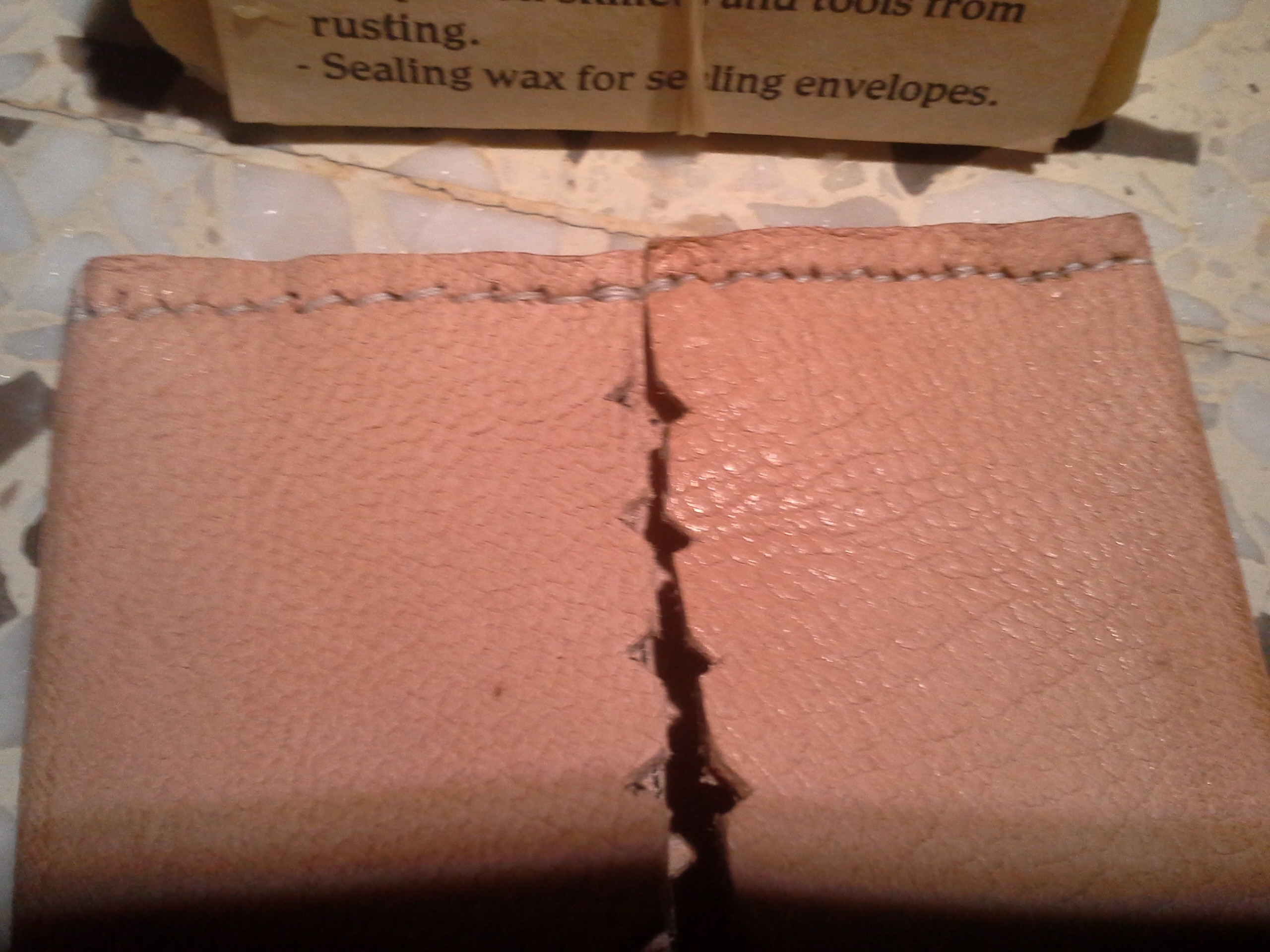 Leather tissue holder (4)
