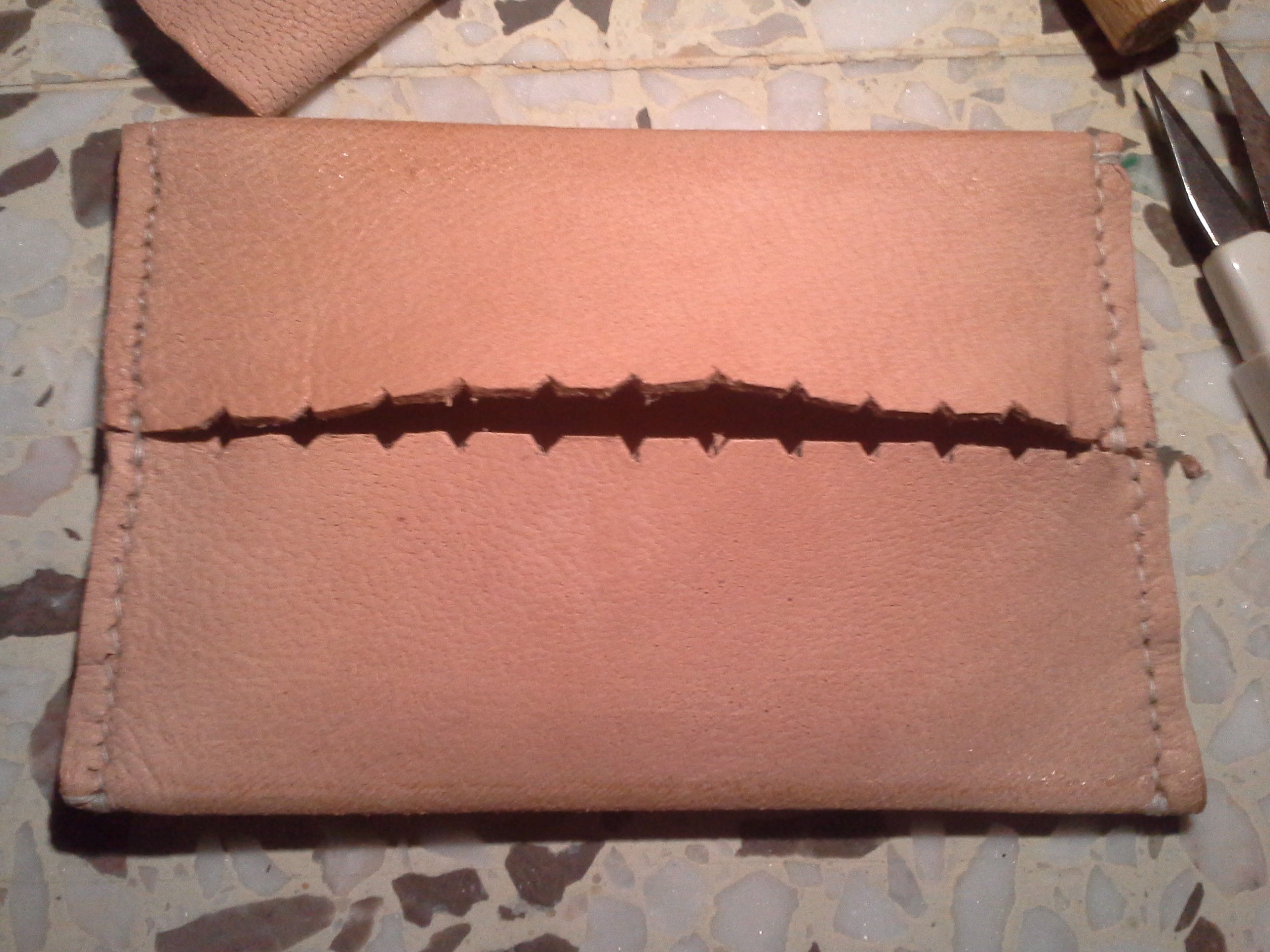 Leather tissue holder (6)